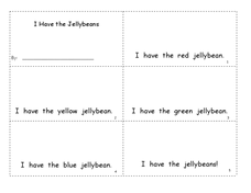 Jellybean Emergent Reader Worksheet Worksheet