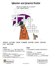Weather and Seasons Puzzle Lesson Plan