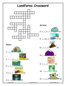 Landforms Crossword Lesson Plan