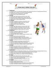 Olympic Sports Multiple Choice Quiz Lesson Plan