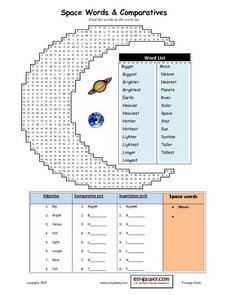 Space Words and Comparatives Lesson Plan