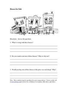 Houses for Sale Worksheet