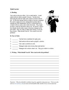 Mail Carrier Worksheet