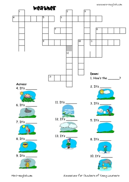 weather crossword puzzle worksheet free worksheets library download and print worksheets. Black Bedroom Furniture Sets. Home Design Ideas