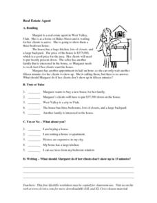 Real Estate Agent Worksheet