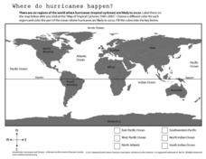 Where Do Hurricanes Happen? Worksheet