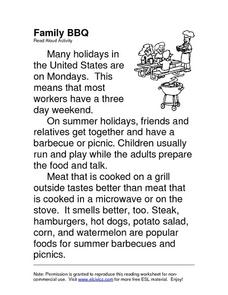Family BBQ Worksheet