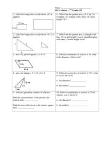 Geometry: Area, Scale Factor, Circumference Lesson Plan