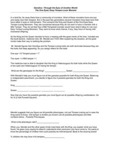 Genetics: Through the Eyes of Another World Worksheet
