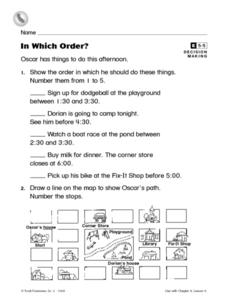 In Which Order? Worksheet