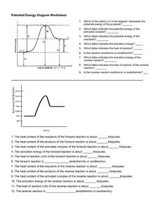 Potential Energy Diagram Worksheet Worksheet for 10th - Higher Ed ...