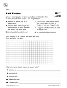Park Planner Worksheet