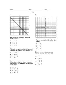 Graphs in the Coordinate Plane Worksheet