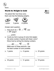 Worth Its Weight in Gold Worksheet