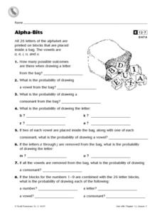 Alpha- Bits Worksheet