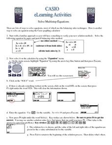 Solve Multistep Equations Worksheet