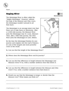 Raging River Worksheet