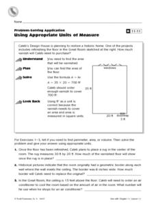 Using Appropriate Units of Measure Worksheet