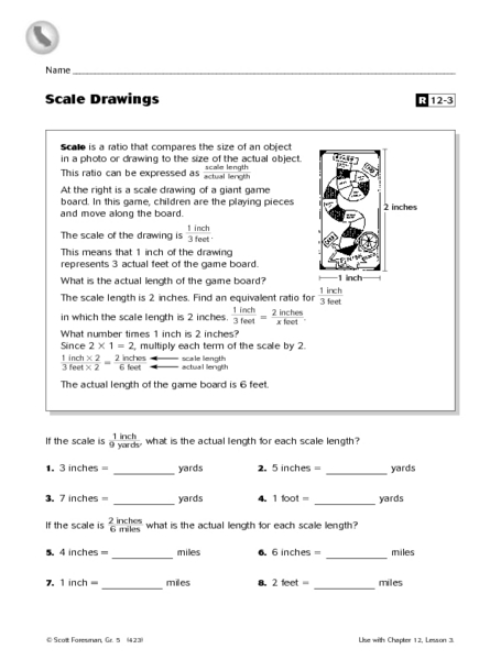 Scale Drawings Ratios Worksheet For 5th Grade Lesson Planet