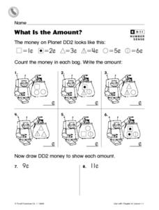 What Is the Amount? Worksheet
