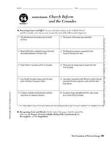 Crusades Lesson Plans Worksheets Lesson Planet