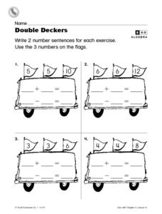 Double Deckers- Addition and Subtraction Practice Worksheet