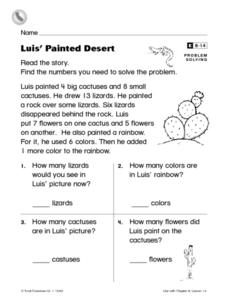 Luis' Painted Desert Worksheet for 1st Grade | Lesson Planet