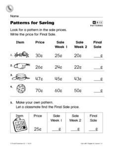 Patterns for Saving Worksheet