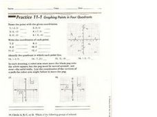 Graphing Points in Four Quadrants Worksheet