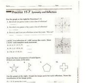 Symmetry and Reflections Worksheet