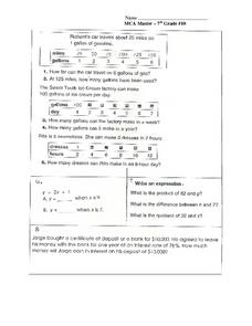 MCA Master:  Proportion Story Problems Worksheet