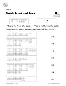 Match Front and Back Worksheet