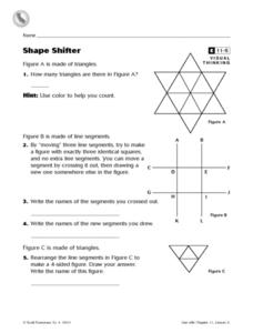 Shape Shifter Worksheet