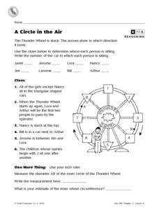 A Circle in the Air Worksheet