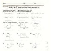 Applying the Pythagorean Theorem Worksheet