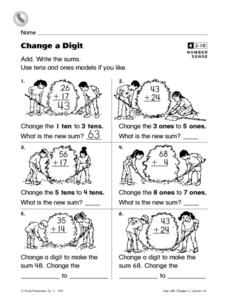 Change a Digit Worksheet