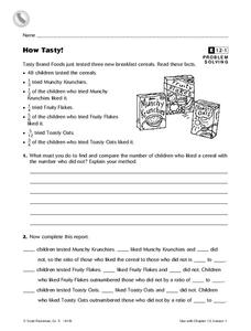 How Tasty! Worksheet