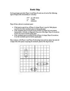 Battle Ship Worksheet
