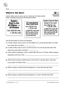 Which Is the Best? Worksheet