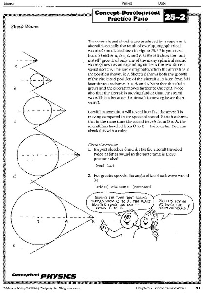 Shock Waves Worksheet For 10th Higher Ed Lesson Planet