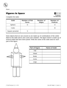 Figures in Space Worksheet