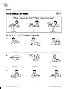 Ordering Events Worksheet