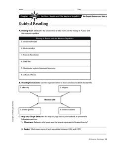 The History of Russia and the Western Republics Worksheet