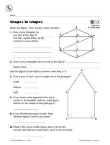Shapes in Shapes- Visual Thinking Worksheet