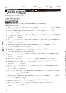 The Economy in Latin America Worksheet