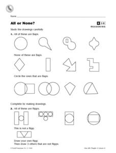 All or None? Worksheet