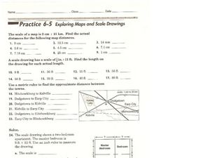 Exploring Maps and Scale Drawings Worksheet