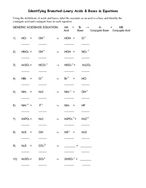 bronsted lowry acids and bases worksheet free worksheets library download and print worksheets. Black Bedroom Furniture Sets. Home Design Ideas