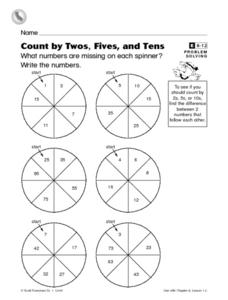 Count by Twos, Fives, and Tens Worksheet