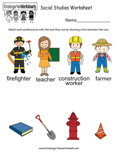 Community Helpers Worksheets For Kindergarten Free